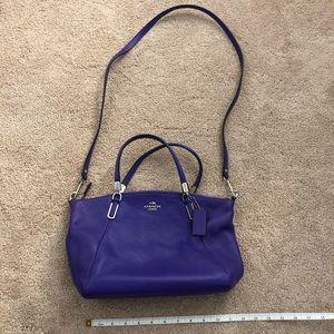 Purple Coach cross body bag